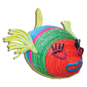 A colorful fish craft project for kids.