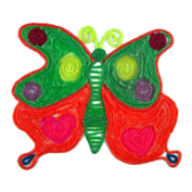 Arts and Crafts project create a colorful butterfly
