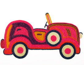 Fun crafts for boys, create a retro car