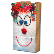 Wikki Stix lunch bags are fun crafts for kids