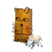 Lion and Lamb Lunch Bag crafts