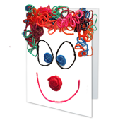 Wikki Stix fun craft activity for kids - create a clown bag