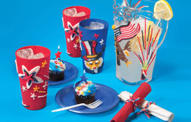 For fun family crafts for kids and adults, use Wikki Stix to decorate outdoor tables and diner ware!