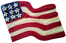 The Wikki Stix American Flag craft project for kids
