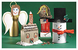 Christmas Holiday Bank Craft Idea for kids from Wikki Stix.