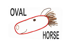 Oval Horse for teaching basic shapes in the classroom or homeschooling