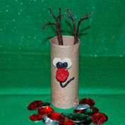 Cardboard Tube Reindeer Crafts for Kids