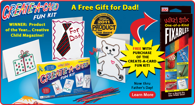 Create-A-Card Kit, buy 1 get FIXABLES FREE now through Father's Day
