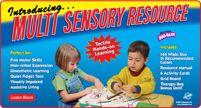 Multi Sensory Resource for special needs, fine motor skills, kinesthetic learning and more