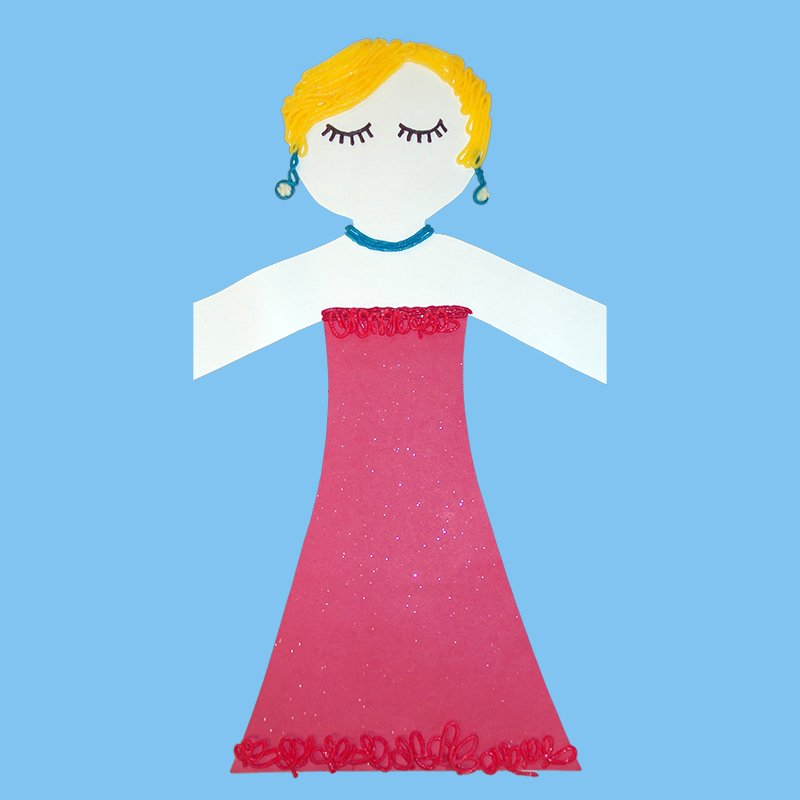 Paper Doll in an Evening Gown
