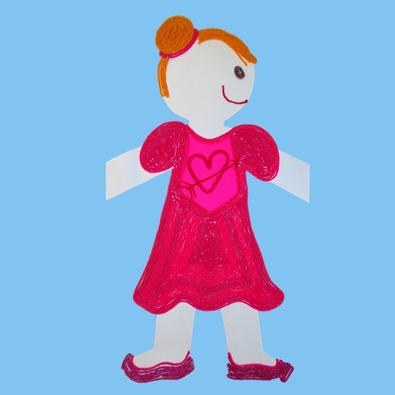 Valentine's Day Paper Doll