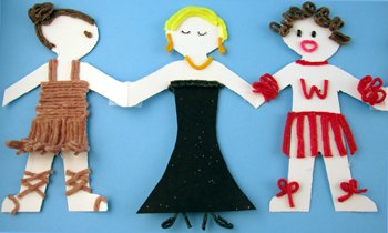 Paper Doll crafts for kids