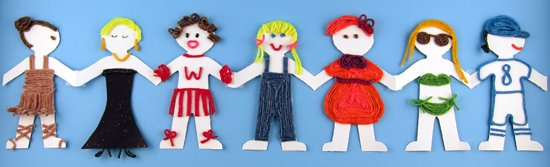 A paper doll chain craft idea for the kids!