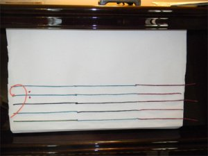 2. Create the bass staff on the craft paper