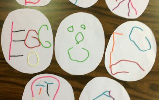 Easter crafts for kids, art lesson from a special needs classroom