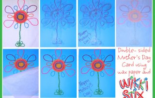 A double sided Mother's Day Card, a fun craft idea for the kids