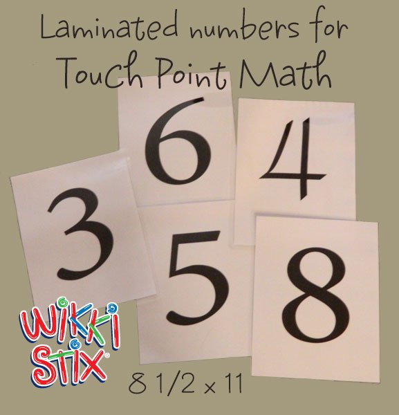 Laminated Numbers for Touch Math with Wikki Stix