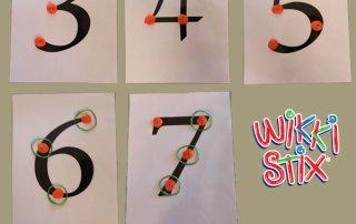 Addition with Wikki Stix Touch Math