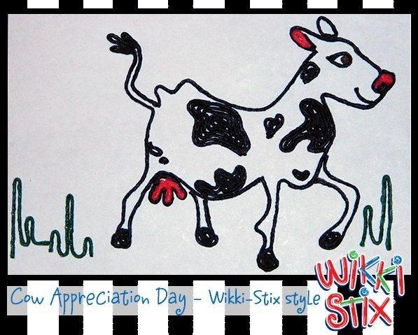 Wikki Stix Celebrates Cow Appreciation Day!