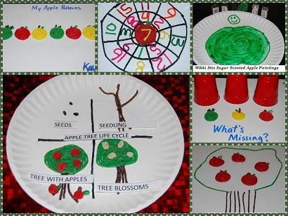 image about Apple Life Cycle Printable named Wikki Stix Apples Functions for Tumble Mastering and Enjoy