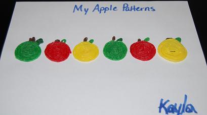Wikki Stix Apple Patterning Picture
