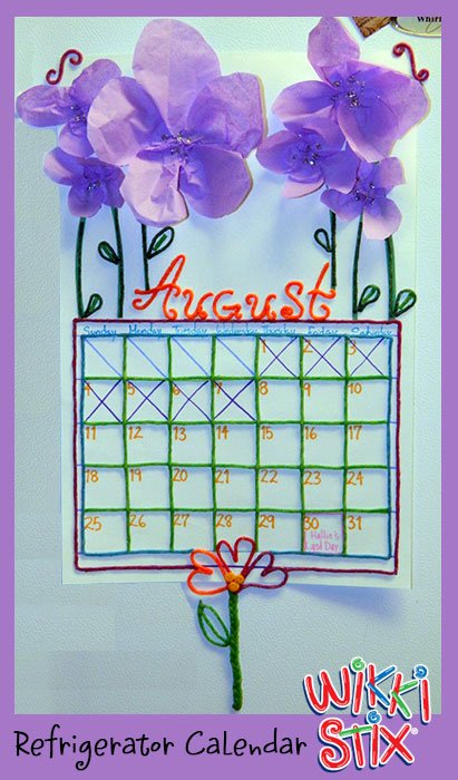 Wikki Stix Countdown Calendar Crafts for Kids