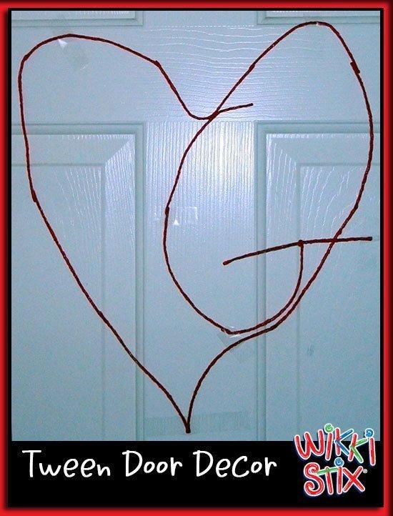 Fun Crafts for kids, decorate a door with Wikki Stix!