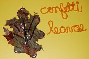 WS Confetti Leaf Picture Crafts for Kids