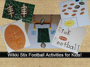 Wikki Stix Football Crafts for Kids
