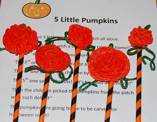 Wikki Stix Pumpkins for Early Childhood Education