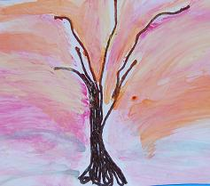 WS Resist Watercolor Tree Picture