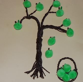 Twisted Apple Tree Craft Idea for the Kids