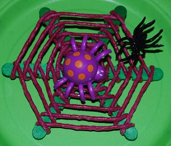 Wikki Stix Spiderweb Halloween Craft Activity for Kids