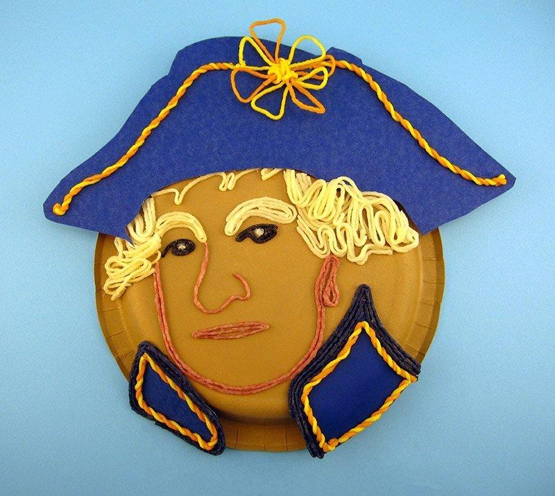 george washington paper plate crafts wikki stix