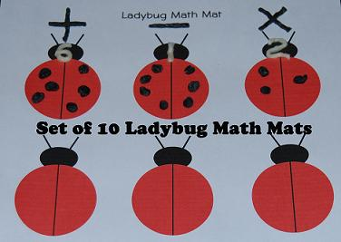 Lady Bug Math Mats