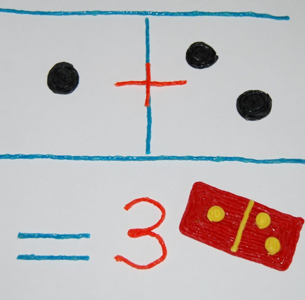 Domino Early Math Addition with Wikki Stix