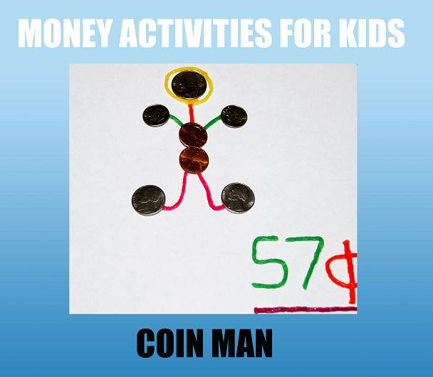 Wikki Stix Coin Man Money Activities for Kids!