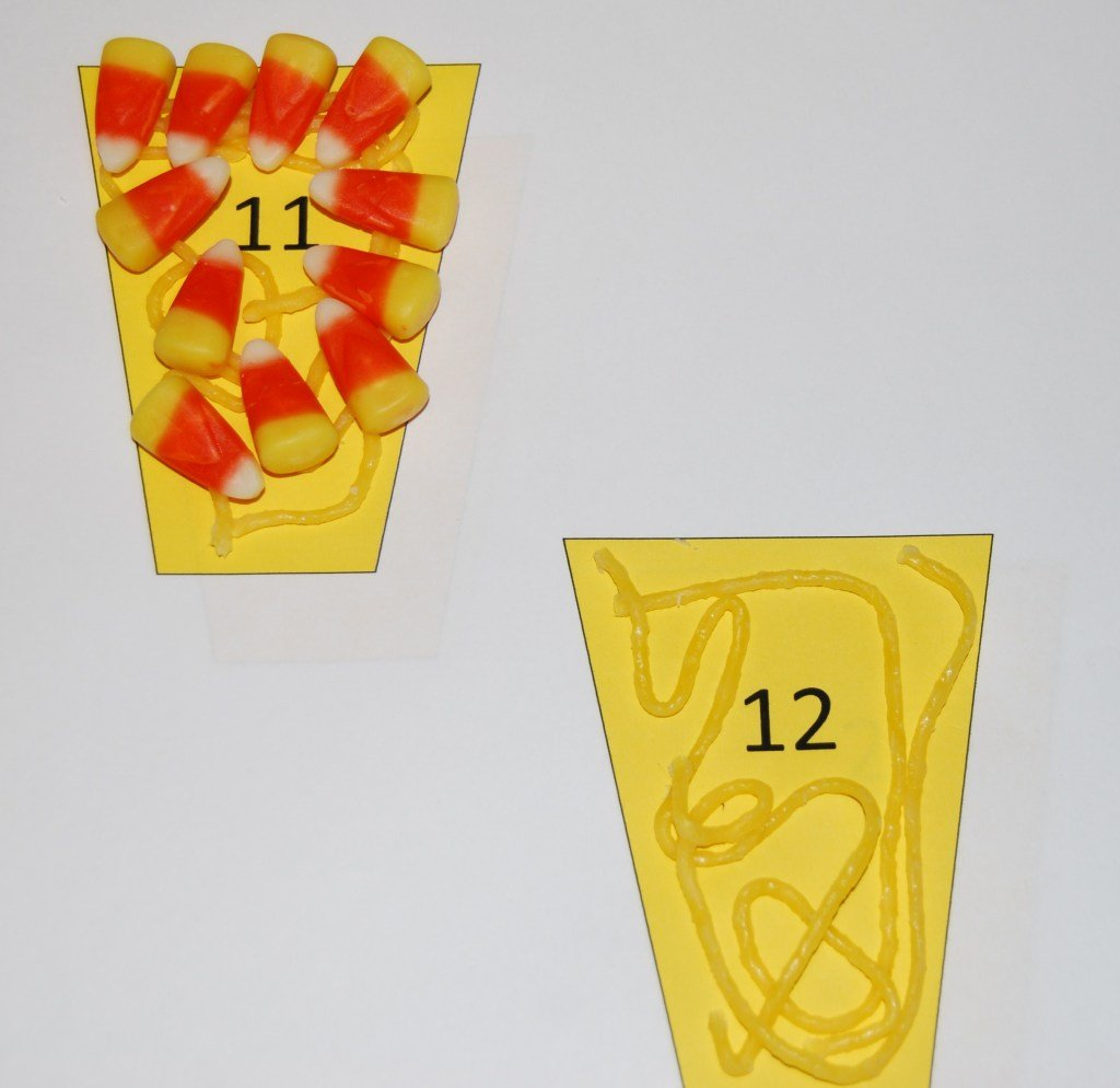 Candy Corn Counting Cups