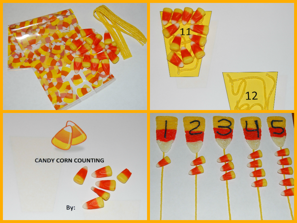 Wikki Stix Candy Corn Counting for Young Kids