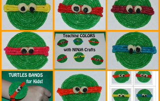 Wikki Stix Ninja Turtles Crafts for Kids!