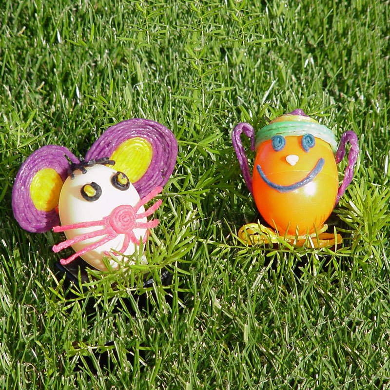 Decorated Wikki Stix Easter Eggs