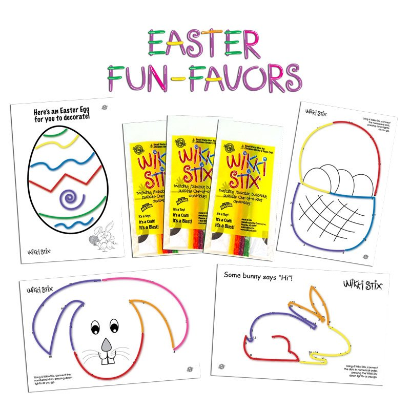 Easter Fun Favors Display