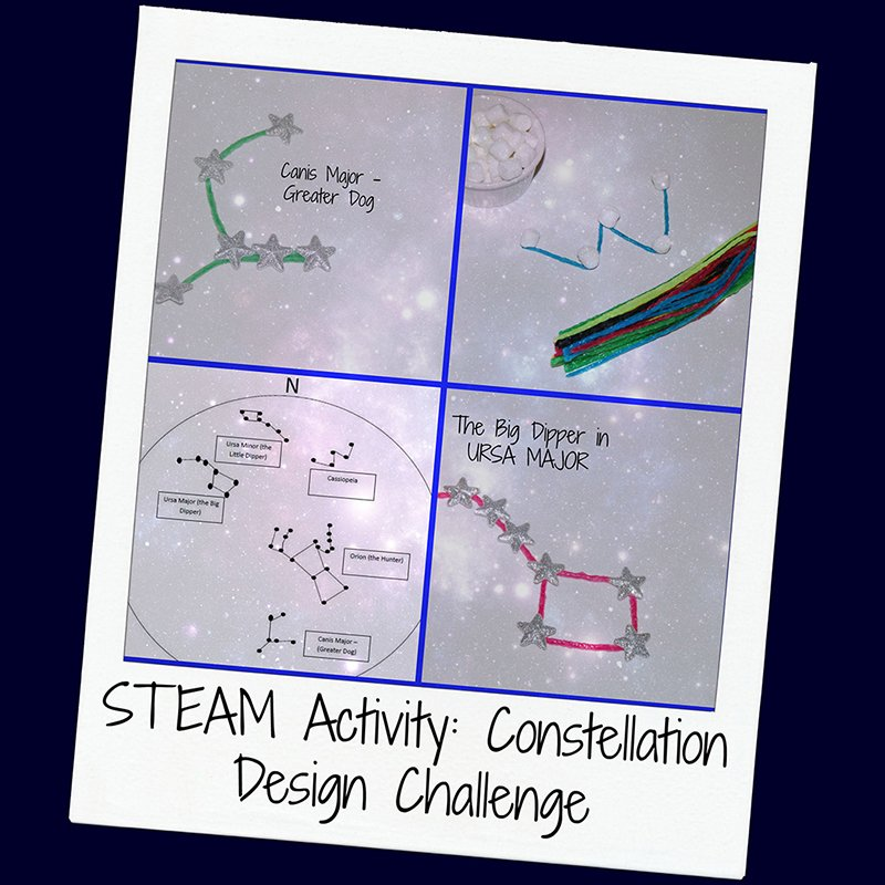 STEAM Activity for Kids: Wikki Stix Constellation Designs