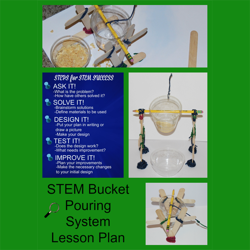 STEM Challenge for Kids: Bucket Pouring System Lesson Plan