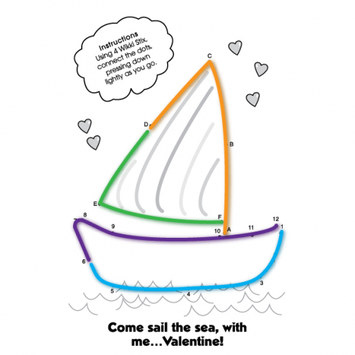 Valentine Sailboat