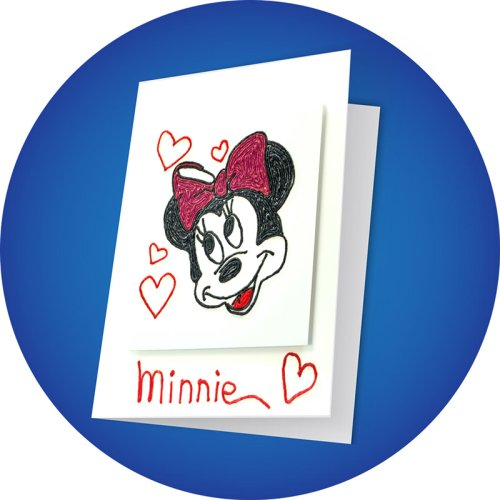 Minnie Mouse Greeting Card Craft