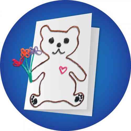 Teddy Bear Greeting Card Craft