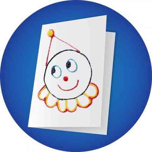 Clown Greeting Card Craft
