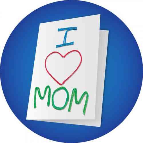 I love Mom Greeting Card Craft