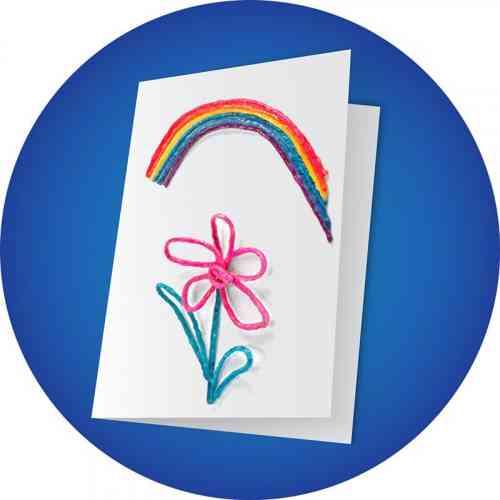 Rainbow Greeting Card Craft